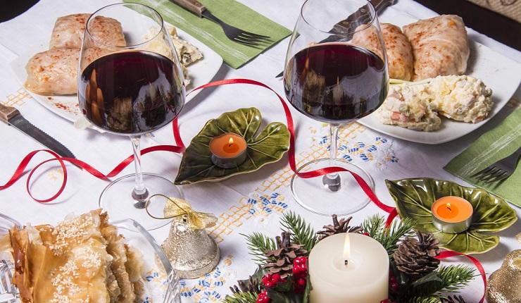 Wine pairing at Christmas