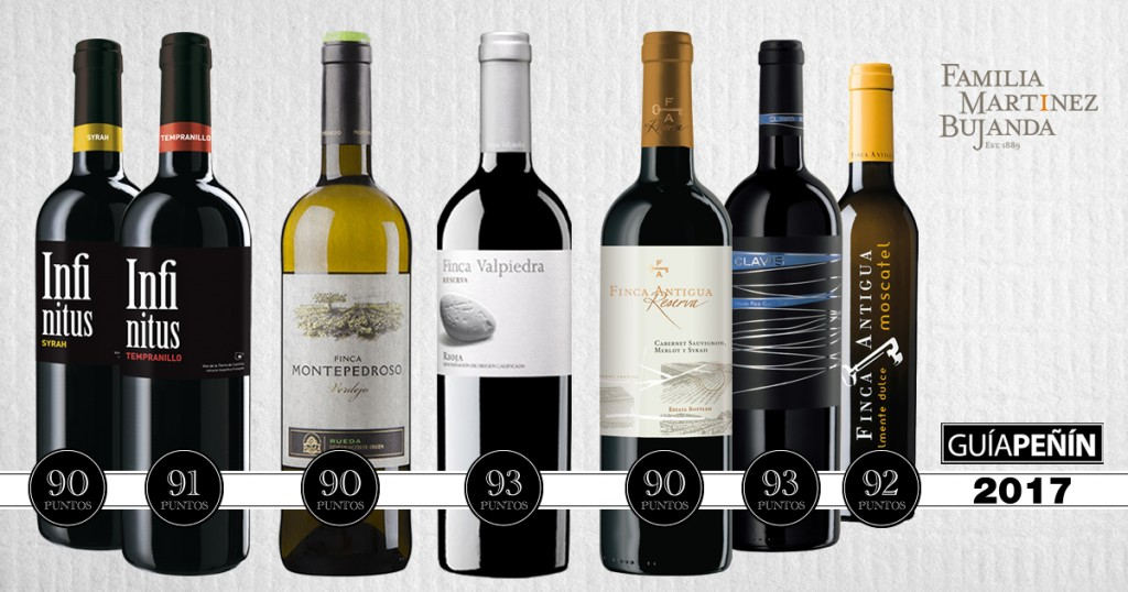 Familia Martínez Bujanda: Well represented in the 2017 Peñín Guide